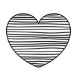 monochrome silhouette of lines in heart shape vector image