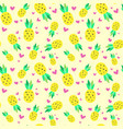 seamless pattern pineapple tropical summer vector image