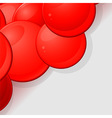 Glossy red 3D spheres background vector image vector image