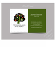 Business Card Template Tree from Wonderland vector image