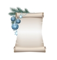 Christmas scroll vector image vector image