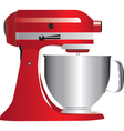 Red stand mixer vector image