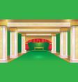 stateroom green luxury design background vector image