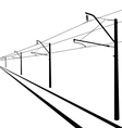 Railroad overhead lines Contact wire vector image