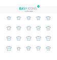 easy icons 33e cloth size vector image