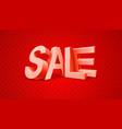 Sale 3d text message vector image
