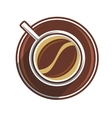 Coffee bean in a coffee cup vector image vector image