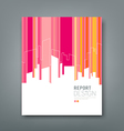 Cover Magazine building colorful background vector image