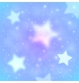 Blue blurred stars abstract background vector image vector image