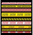 Warning security and caution ribbons and tapes vector image
