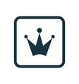 crown icon Rounded squares button vector image