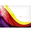 Yellow and purple color lines abstract background vector image vector image