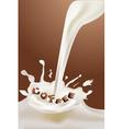 milky coffee vector image vector image