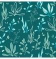 Dark Green Seaweed Underwater Plants vector image