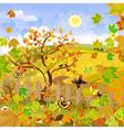 rural landscape autumn vector image