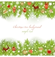 christmas tree borders vector image vector image