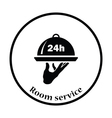 24 hour room service icon vector image vector image