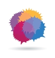 Colorful stains icon vector image