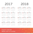 English calendar for two years vector image