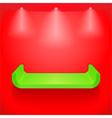 Green shelf vector image