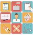 Medical Icons Set Flat Design vector image