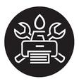printer icon vector image