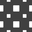 stop button icon sign Seamless pattern on a gray vector image