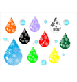 water drops icons with snowflakes vector image