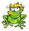 Girl happy frog vector image
