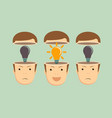 leadership concept with crowd of businesspeople vector image