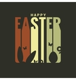 easter label design background vector image vector image