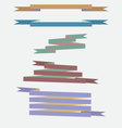 Set of the vintage colored ribbons vector image