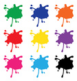 Colorful splashes set vector image
