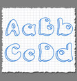 Sketch 3d alphabet letters - ABCD vector image