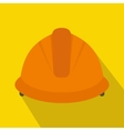Construction helmet icon flat style vector image