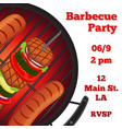 barbecue party flyer invitation bannerflat style vector image