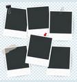 blank photo frame set vector image