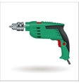 Electric drill realistic vector image