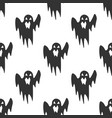 ghost seamless pattern on a white background vector image
