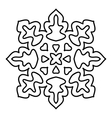 Isolated snowflake pattern on white background vector image