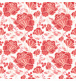 Salmon pink and yellow decorative roses and vector image