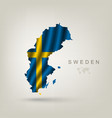Swedish flag as a country vector image