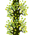Tree seamless border with oak leaves vector image