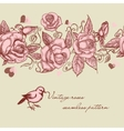 Vintage roses seamless pattern vector image
