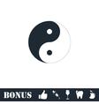 Yin Yang icon flat vector image