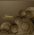 islamic background with mandala decoration vector image