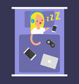 new technologies addiction young blonde girl vector image vector image