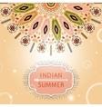 Invitation card with geometric ornament vector image