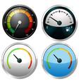 Sets of meter gauges vector image
