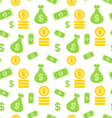 Seamless Texture with Money Bag vector image vector image
